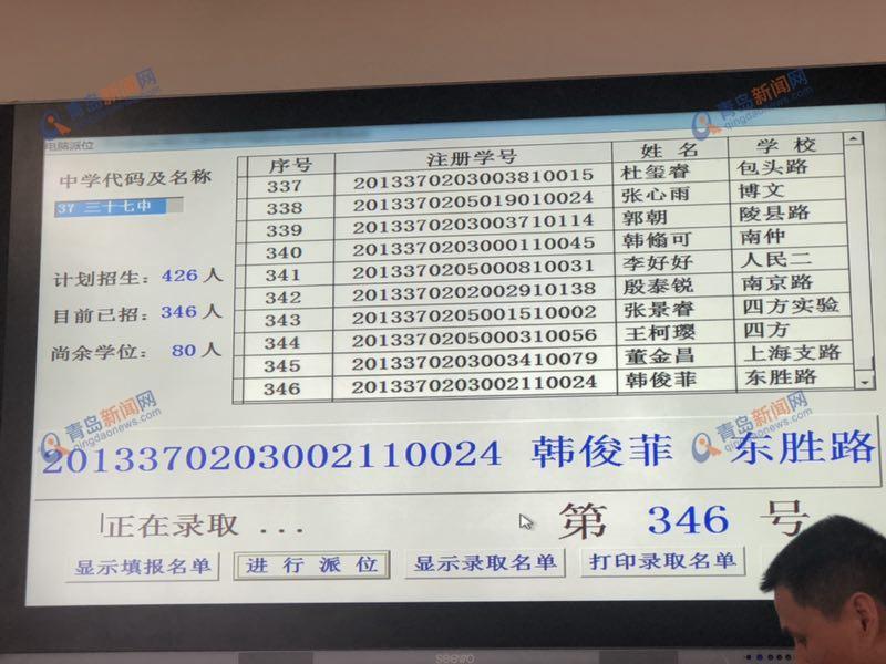 青岛37中电脑派位结果公布 速查名单-青岛新闻网
