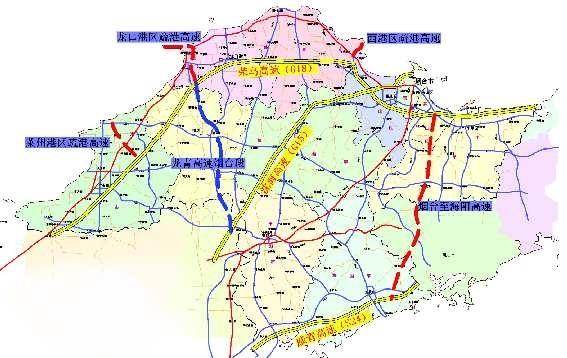 3条疏港高速公路布局图
