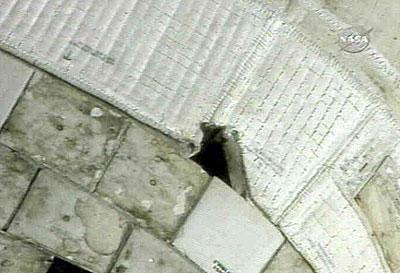 航天飞机机身隔热瓦出现一条10至15厘米的裂痕