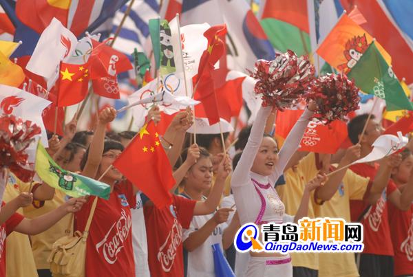 北京奥运会火炬接力计划路线-北京2008奥运火炬及残奥火炬接力 青岛高清图片