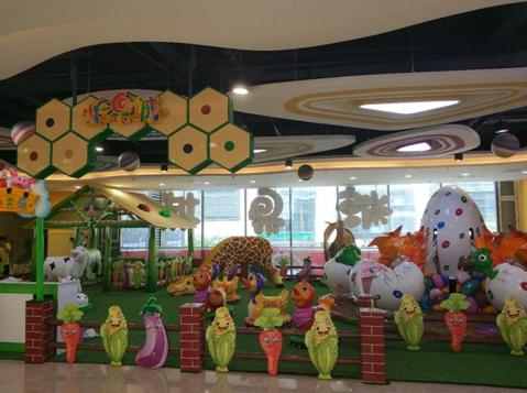 青岛cbd万达广场糖果城儿童主题街区,面积共计19353.