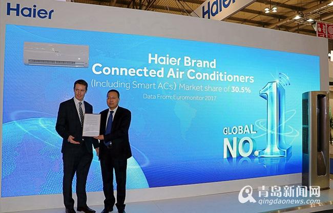 中国互联空调品牌赶超日韩 海尔连续2年全球销量