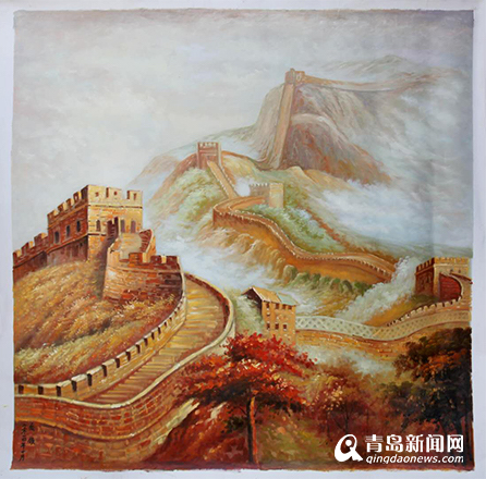 图为乔领作品——金色中国梦