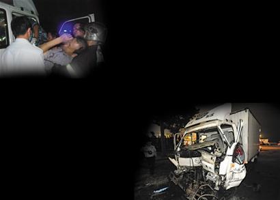 杭州支路惨烈车祸 驾驶室被撞扁司机惨死(图)-青岛