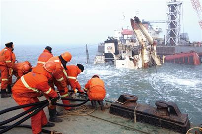 日出/千吨级货轮东方日出终见日出海底沉睡2月