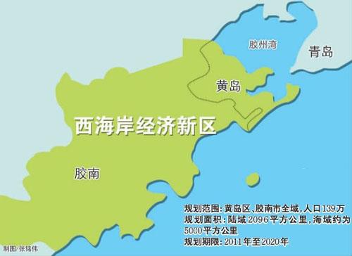 青岛西海岸经济新区规划(据市政协网站).