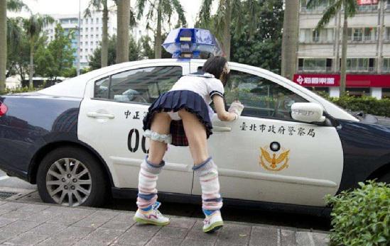 """日本 露底/受邀来台参加2012日本动漫映画祭的日本模特儿""""五十只马"""",..."""