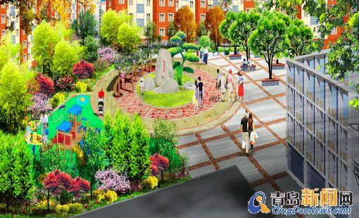 地埋式垃圾桶;增加残疾人无障碍设施;新建的儿童公园