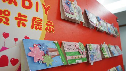 小学生的diy贺卡展示图片