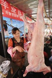 贵羊羊驾到1斤羊肉抵2斤多猪肉