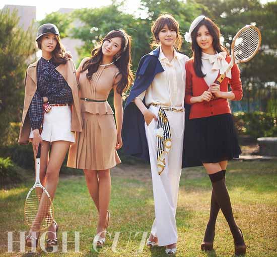 韩国少女时代身穿奥运服装时尚大片 青岛新闻