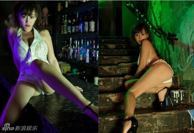 日本巨乳女星杉原杏璃露底写真大秀翘臀