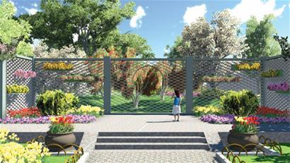 石榴树背景平面设计