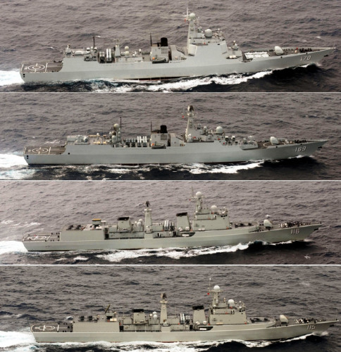 中国舰队赴俄军演 日本飞机战舰全程近距跟踪