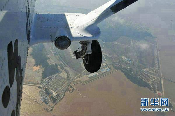 资料图:中国海监固定翼飞机进行海岛保护专项巡查