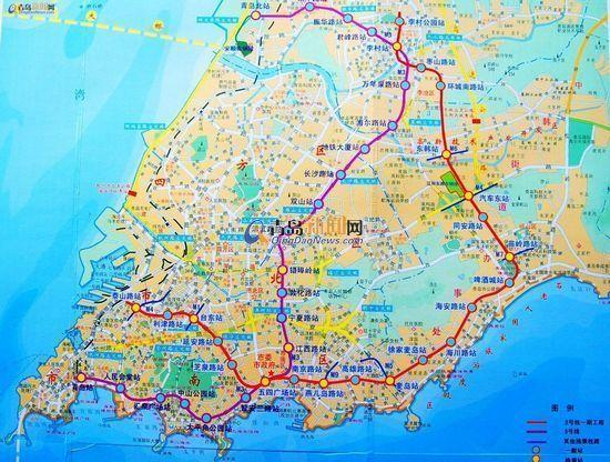 青岛地铁2号线开工 线路图亮相图片