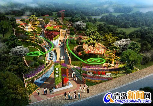 首发:世园会潍坊展园开建 蝴蝶风筝造型(图)