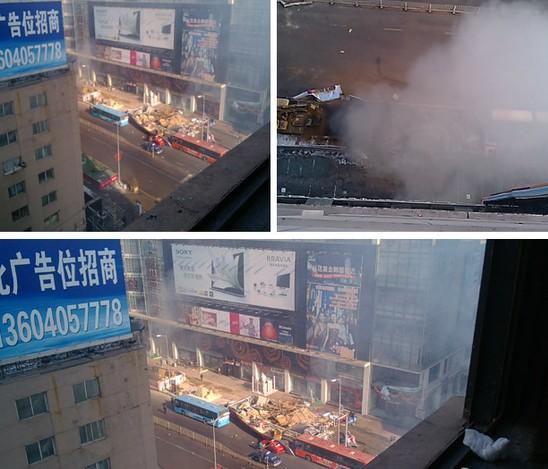 沈阳地下通道发生爆炸 附近居民称有震感(图) - 青岛