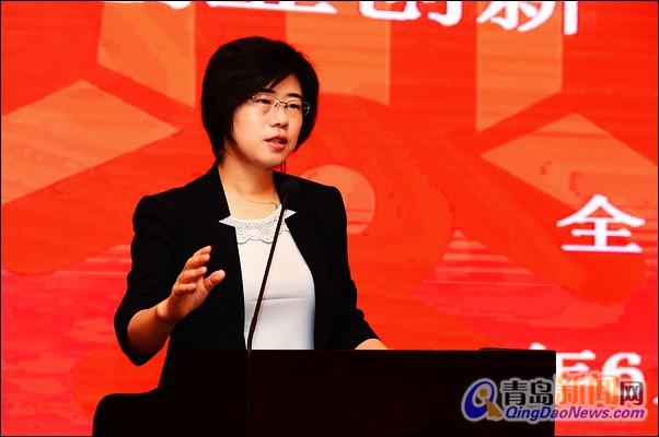 谭丽霞 海尔集团 女性/海尔集团高级副总裁、首席财务官谭丽霞出席会议并讲话