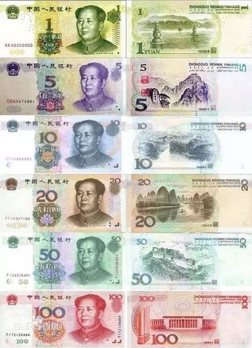 1999年20元人民币图片