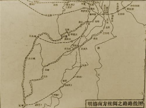 明清南方丝绸之路路线图
