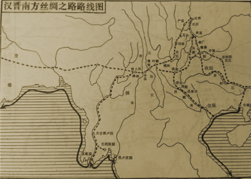 汉晋南方丝绸之路路线图