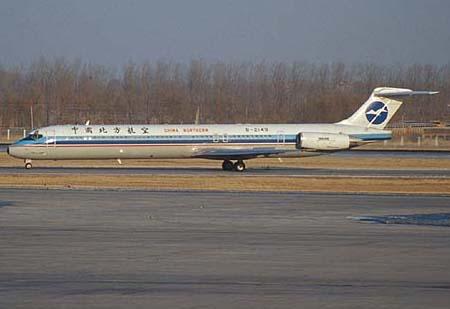 麦道82飞机在大连海域